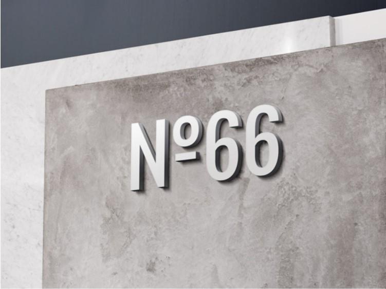 Wall 3d logo MOCKUPS
