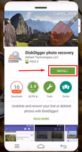 Install DiskDigger photo recovery