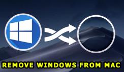 Remove Windows from Mac