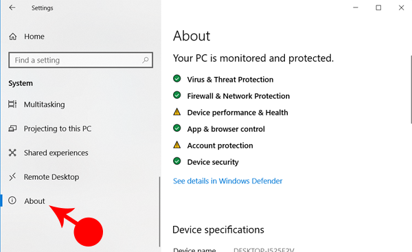 About Windows Setting