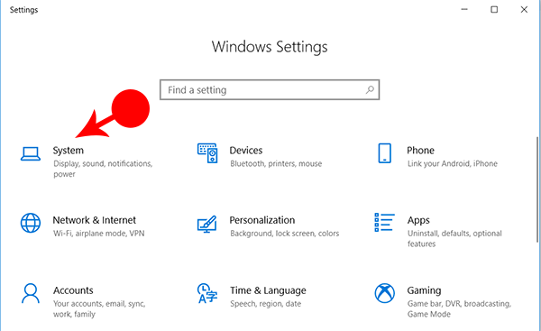 System Windows Setting