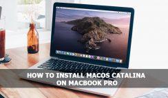 Install macOS Catalina on MacBook Pro